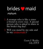 Wedding Wine Label - Bridesmaid