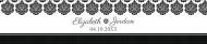 Wedding Water Bottle Label - Black & White