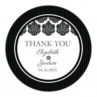 Wedding Sticker - Black & White