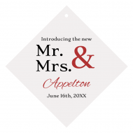 Wedding Wine Hang Tag - Mr & Mrs