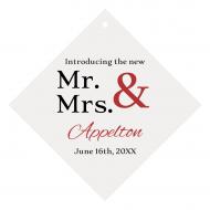 Wedding Wine Hang Tag - Mr & Mrs