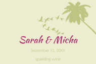 Wedding Mini Wine Label - Destination Wedding