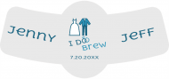Wedding Bottle Neck Label - I Do Brew