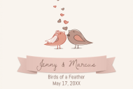 Wedding Mini Wine Label - Birds of a Feather