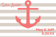 Wedding Mini Wine Label - Anchors Away