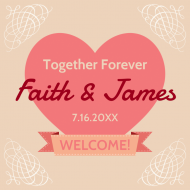 Wedding Sticker - Wedding Favor