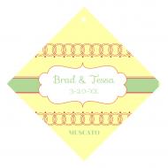 Wedding Wine Hang Tag - Circles of Love
