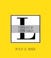 Wedding Wine Label - Block Monogram