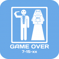 Wedding Drink Coaster - Game Over