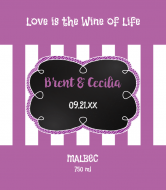 Wedding Wine Label - Bold Stripes
