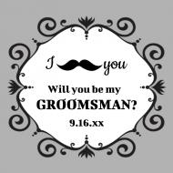 Wedding Sticker - Mustache