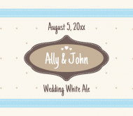 Wedding Beer Label - Wedding White Ale