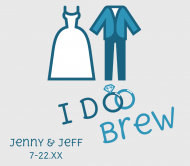 Wedding Beer Label - I Do Brew