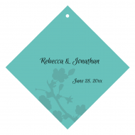 Wedding Wine Hang Tag - Tiffany Blue