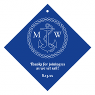 Wedding Wine Hang Tag - Nautical