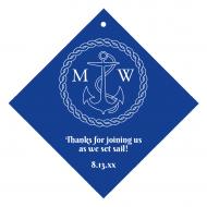 Wedding Wine Hang Tag - Nautical