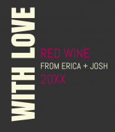 Wedding Wine Label - With Love
