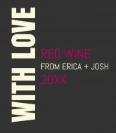 Wedding Wine Label - With Love
