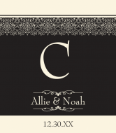 Wedding Wine Label - Charming