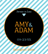 Wedding Wine Label - Forever in Love