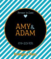 Wedding Wine Label - Forever in Love