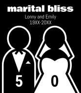 Wedding Wine Label - Marital Bliss