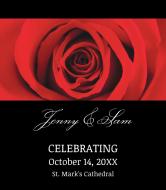 Wedding Wine Label - Red Rose