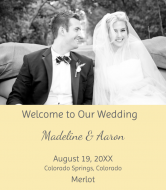 Wedding Wine Label - Happily Married