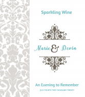 Wedding Wine Label - Evening to Remember