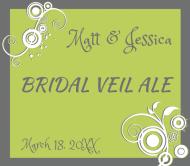 Wedding Beer Label - Bridal Veil Ale