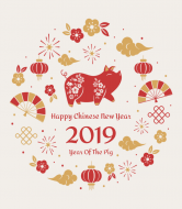 Holiday Wine Label - Chinese New Year 2019