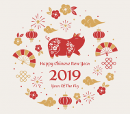 Holiday Beer Can Label - Chinese New Year 2019