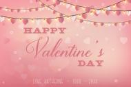 Holiday Growler Label - Valentine String Lights