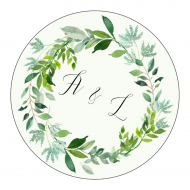Wedding Sticker - Spring Green