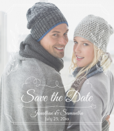 Wedding Champagne Label - Romantic Save The Date
