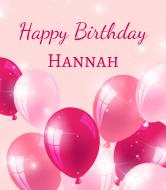Birthday Champagne Label - Pink Balloons