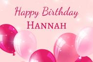 Birthday Mini Wine Label - Pink Balloons