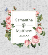 Wedding Champagne Label - English Roses