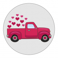 Holiday Sticker - Valentine Retro Truck