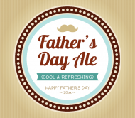 Holiday Beer Label - Father's Day Ale