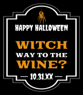 Holiday Wine Label - Witch Wine