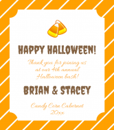 Holiday Wine Label - Candy Corn