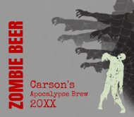 Holiday Beer Label - Zombie