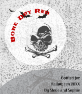 Holiday Wine Label - Bone Dry Red