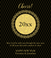 Holiday Wine Label - New Years Eve Gold