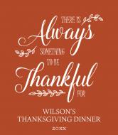 Holiday Wine Label - Always Thankful