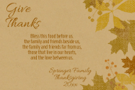 Holiday Mini Wine Label - Give Thanks