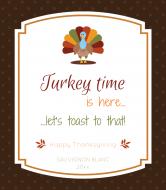 Holiday Wine Label - Turkey Time