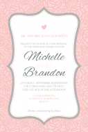 Wedding Large Wine Label - Pink and Gray