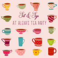 Celebration Food Label - Tea Party
